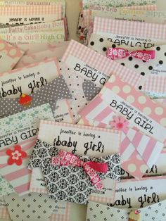 Cute baby girl diaper invites for a baby shower.