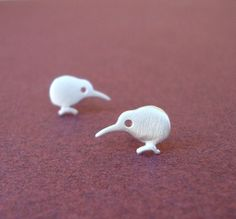 Tiny Studs Kiwi Bird Earrings sterling silver New Zealand cute gift women kids girl teen mom Jewelrymini
