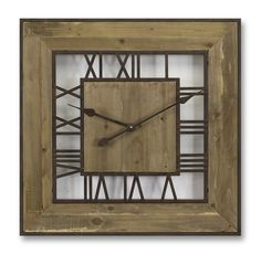 Square Roman Numeral Wall Clock - Top Seller!