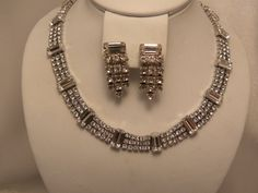 Signed Weiss Vintage Baguette Necklace & Married by 3DoxieVintage