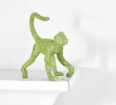 Spider Monkey Jungle Glittered Nursery Decor by wishdaisy on Etsy