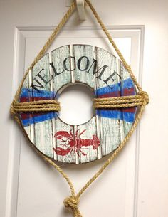 Life Preserver Ring Sign Beach House Wall Art by CastawaysHall
