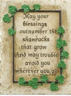 Irish Garden Blessing - St. Patricks Day - Catholic Blessing