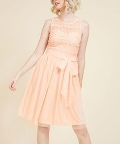 Pastel Pink Pleasing as Punch Lace Dress - Plus Too #zulily #zulilyfinds