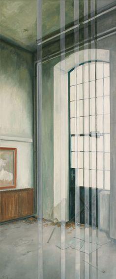 "MARIA TEMNITSCHKA, ""Lost in Time 2"", XIII, 2013, Öl/Leinwand, 120 x 50 cm"