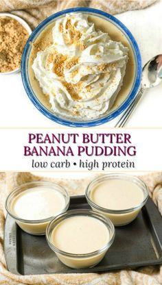 This keto peanut butter banana pudding is a healthy recipe that you can eat as a keto sweet snack or even for breakfast! It's high protein, high fiber and sugar free with only a few ingredients. It's also low calorie with only 152 calories per serving! Sugar Free Desserts, Low Carb Desserts, Sweets Recipes, Fruit Recipes, Low Carb Recipes, Banana Recipes, Keto Pudding, Sugar Free Pudding, Keto Sweet Snacks