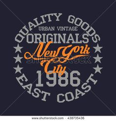 New York typography, t-shirt sport emblem,, vintage graphic, Print label, original clothing