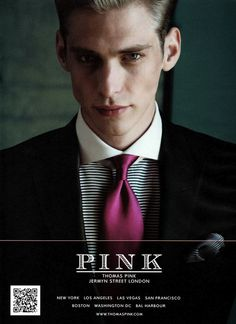 What an amazing cutaway collar. Jeremy Dufour for Thomas Pink Fall 2011 Campaign