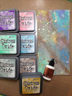 Continuing to play with my new Distress Oxides... even included some Ken Oliver Liquid Metals.