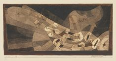 Paul Klee 1879 - 1940 AEOLSHARFE (AEOLIAN HARP) signed Klee (lower left); dated 1922, numbered 89 S. Cl. and titled on the artist's mount watercolour, pen and ink and pencil on paper laid down on the artist's mount image size: 9.9 by 20.9cm., 3 7/8 by 8 1/2 in. mount size: 18.5 by 27cm., 7 1/4 by 10 5/8 in. Executed in 1922.