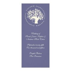 Jewish Wedding Invitations Tree of Life Jewish Wedding Ceremony Card Purple