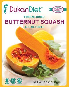 Dukan Diet Freeze-Dried Butternut Squash-Makes a Great Crunchy Snack!