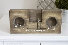 DIY Wooden Phone Amplifier/Speaker (no cord or batteries needed) | via Make It and Love It