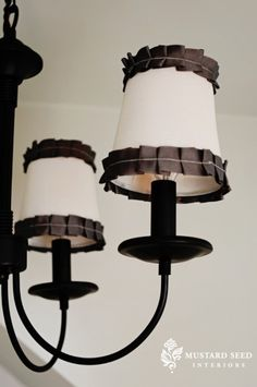 DIY pleated trim lamp shades
