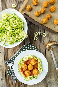 Zucchini Pasta with Quinoa Meatless Balls & A Review of Gena Hamshaw's Choosing Raw  |  Keepin' It Kind