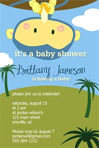 Print some really cute baby shower invitations for free!