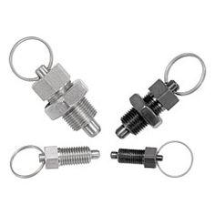 KIPP Indexing plungers with key ring, without locknut Metric fine thread Stainless steel hardened pin Metal Bending Tools, Key Rings, Hardware, Good Things, Steel, Fabric, Aide, Barbecue, Metals