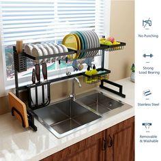 Tidy Kitchen, Small Space Kitchen, Kitchen Dishes, Kitchen Cutlery, Kitchen Shelves, Kitchen Plate Rack, Kitchen Utensil Storage, Kitchen Ideas, Cutlery Storage
