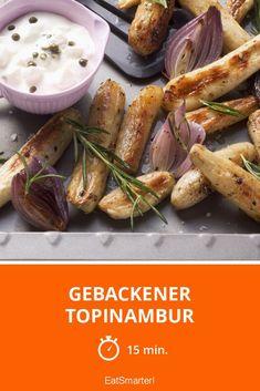 Topinambur hat Saison. Wusstest du das? Deshalb unbedingt ausprobieren! Dieses tolle Rezept ist fertig in nur 15 Minuten. | eatsmarter.de