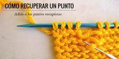 Cómo recuperar un punto escapado | Pearl Knitter