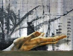 Show me your hands, Matt Adnate  street art Melbourne, Australia Zippertravel.com Digital Edition