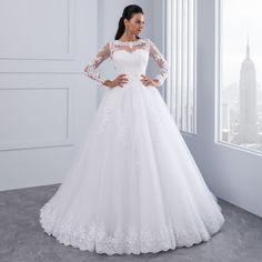 Scoop Wedding Dress, Wedding Dress Backs, Tulle Wedding Gown, Wedding Dresses 2018, Applique Wedding Dress, Wedding Dresses Plus Size, Cheap Wedding Dress, Bridal Gowns, Ivory Wedding