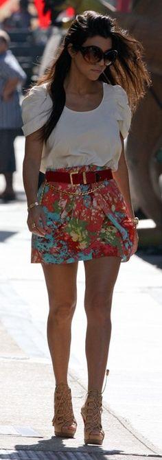Shoes - Christian Louboutin Shirt - Rebecca Minkoff Skirt - Tibi Sunglasses - Tom Ford Bracelet - Cartier Belt - Chanel Same skirt in blue More Tibi...