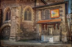 #Geneva #Geneve #Switzerland #Suisse #Swiss #church #oldchurch #churches #oldchurches #textured #oldworldcharm #sundial #textured #caroljapp #europeancity #europeancities #stgermainchurch #eglise #oldtown #historicchurches #medieval #gothic #architectural #gothicarchitecture