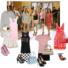 """""""Mean Girls Outfits"""" by aill on Polyvore for my VS girls :)"""