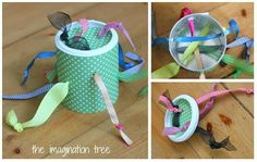 Tactile Ribbon-Pull Tugging Toy