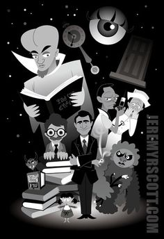 My homage to Rod Serling's classic television show. You can purchase a lithograph of this piece and more at my store [link] The Twilight Zone Twilight Zone Series, Quatrième Dimension, Zone Tv, One Step Beyond, Night Gallery, Spiritus, Alternative Movie Posters, Old Tv Shows, Six Feet Under