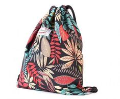 Retro Fun Blue Drawstring Backpack Sports Athletic Gym Cinch Sack String Storage Bags for Hiking Travel Beach