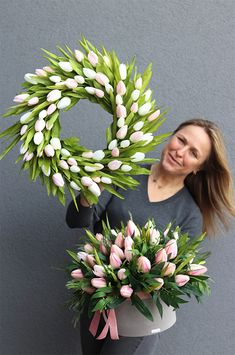 Floral Wreath, Easter, Wreaths, Beauty, Home Decor, Flowers, Floral Crown, Decoration Home, Door Wreaths