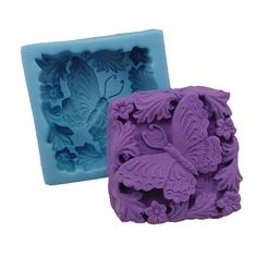 Butterfly Square Silicone Mold Silicone Mould Candy by MoldHouse, $8.99