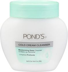 Pond's Cold Cream. I don't know why I don't ever hear anyone talking about this. It is a seriously amazing makeup remover.