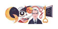 """Il doodle di Google oggi è dedicato ai 127 anni dalla nascita di Vicente Huidobro, poeta cileno, poeta innovatore e creatore del """"Creacionismo"""". Google Doodles, Disney Characters, Fictional Characters, Family Guy, Paper, Projects, Poet, Log Projects, Blue Prints"""