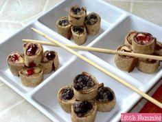 Fun Kid Recipes - Black Bean and Chicken Sushi with Banana Jelly Sushi /Recetas Divertidas - Frijol Negro y Sushi de Poll... - MamásLatinas