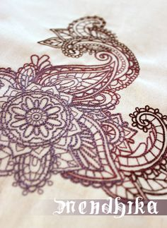 Man, do I wish I had an embroidery machine now - New Mendhika Embroidery Collection from Urban Threads