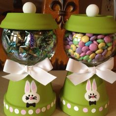 My Easter 'gum ball' machines that I made. :) ~ Cheryl