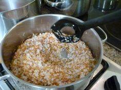 Original-Rezept aus Ägypten für ägyptischen Reis mit Fadennudeln, Shareya. Zutaten und Zubereitung, vegetarisch und vegan