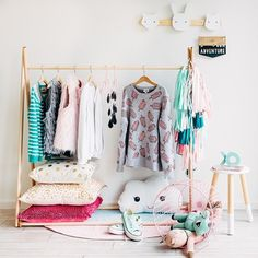 Lady, you got the skills @hailsandshine - Stylist Extraordinaire. Our Clothes Rack is dripping with all things beautiful here. Made in the USA, they are in stock and ready to ship now  #clothesrack #storage #suchgreatheights_kids