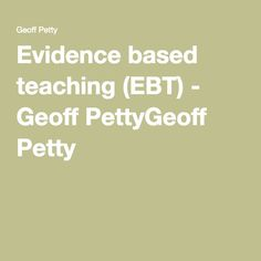 This is a resource that I am wanting to purchase and one that has been recommended. What interests me is that it focuses on reviews of qualitative and quantitative evidence and provides practical strategies based on this.  It also links to a very interesting paper on how teachers should use evidence to inform their own improvement. It provides quite a critical view about the reliability of evidence and how high quality evidence will suggest many ways to help improve practice.