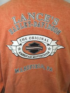 Harley Davidson Motorcycle Sweatshirt Graphic Orange Crewneck Mansfield PA XL #HarleyDavidson #SweatshirtCrew