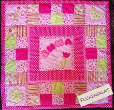 Patchwork Baby Quilt, Krabbeldecke