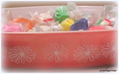 Pyrex and Salt Water Taffy ♥ Perfect Combination of Sweetness!!