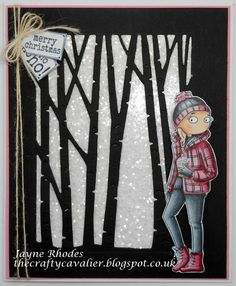 LOTV - Thoroughly Modern Misses February by Jayne Rhodes Card Making Tips, Digi Stamps, Cardmaking, Christmas Cards, Merry, Lily, Modern, Granddaughters, How To Make
