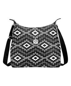 Look at this baggallini Black Geometric Helsinki Crossbody Bag on #zulily today!