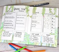 June is already over and I've noticed that I never showed you my June monthly! A little late but here is my jungle theme monthly spread for June. For this month I gave the habit tracker another try and used the habit tracker style from @my.life.in.a.bullet. So far I'm keeping track!