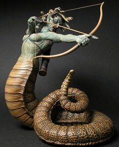 Geo Metric's scale _Clash of the Titans_ Medusa by Chris Wauchop Stop Motion, Fantasy Creatures, Mythical, Art, Mythology, Dark Art, Classic Monsters, Clash Of The Titans, Medusa Art