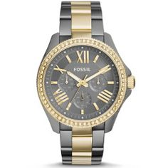 6274dae2426 Fossil Cecile Women s Multifunction Two-Tone Stainless Steel Watch Relógio  Feminino